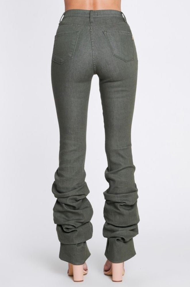Image of Olive Scrunch Jeans