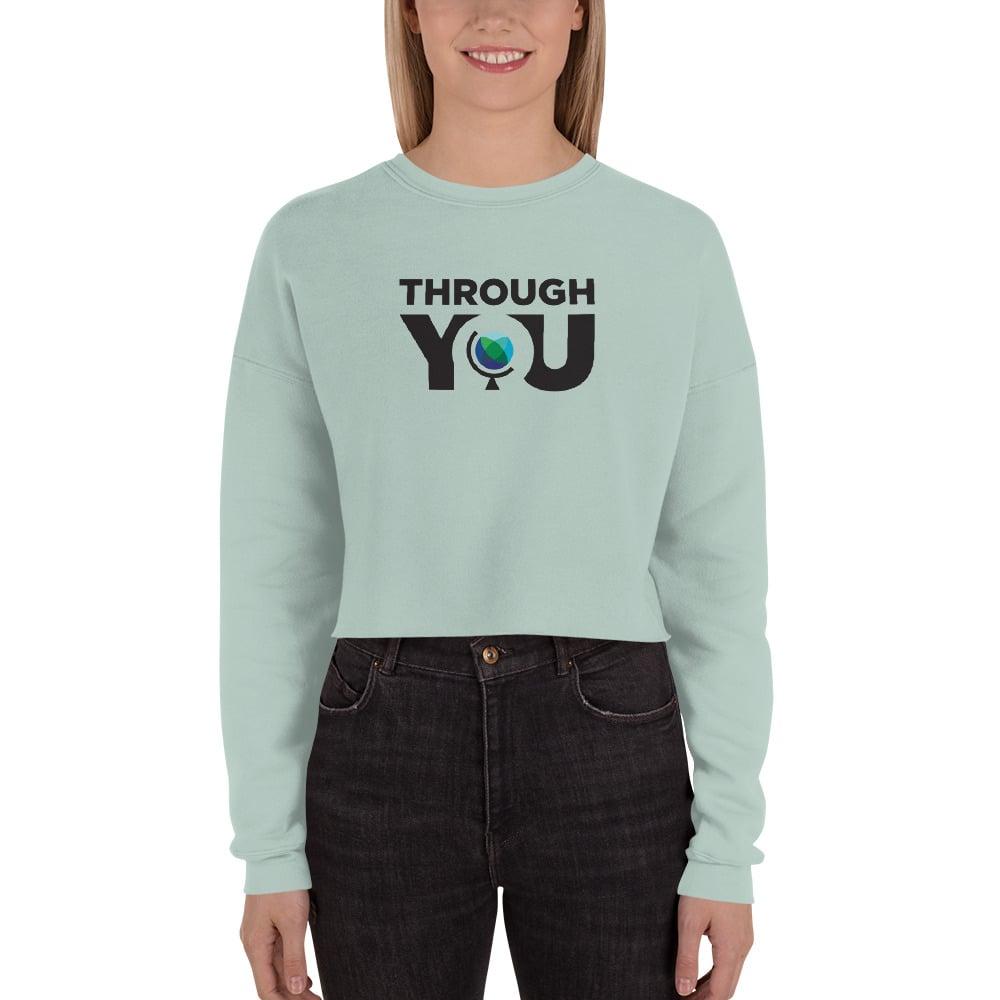 Image of Women's Dusty Blue Cropped Sweatshirt