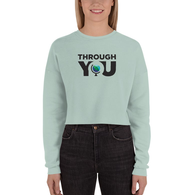 Image of Women's Dusty Blue Cropped Sweatshirt