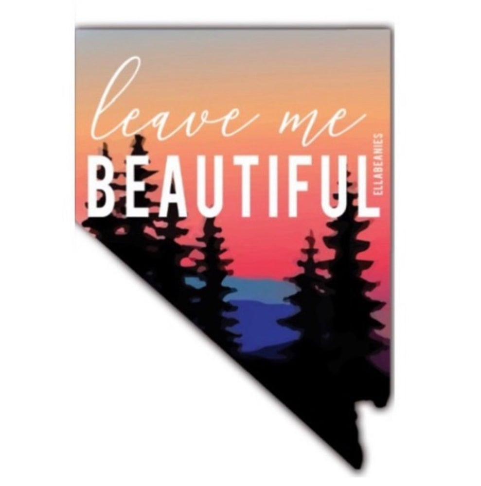 Image of Leave Me Beautiful sticker