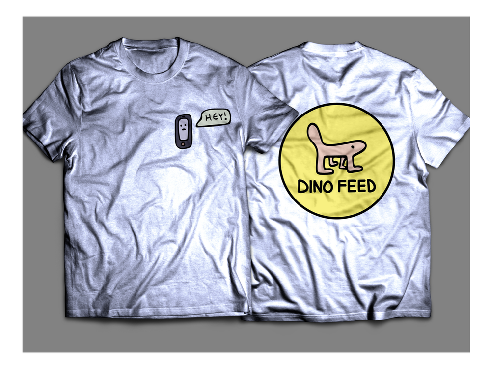 Image of Dino Feed Phone Shirt