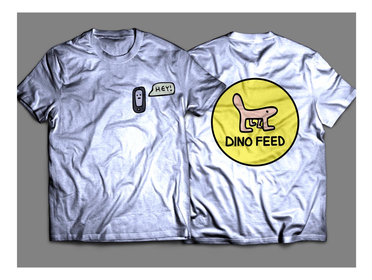 Image of Dino Feed Phone Shirt