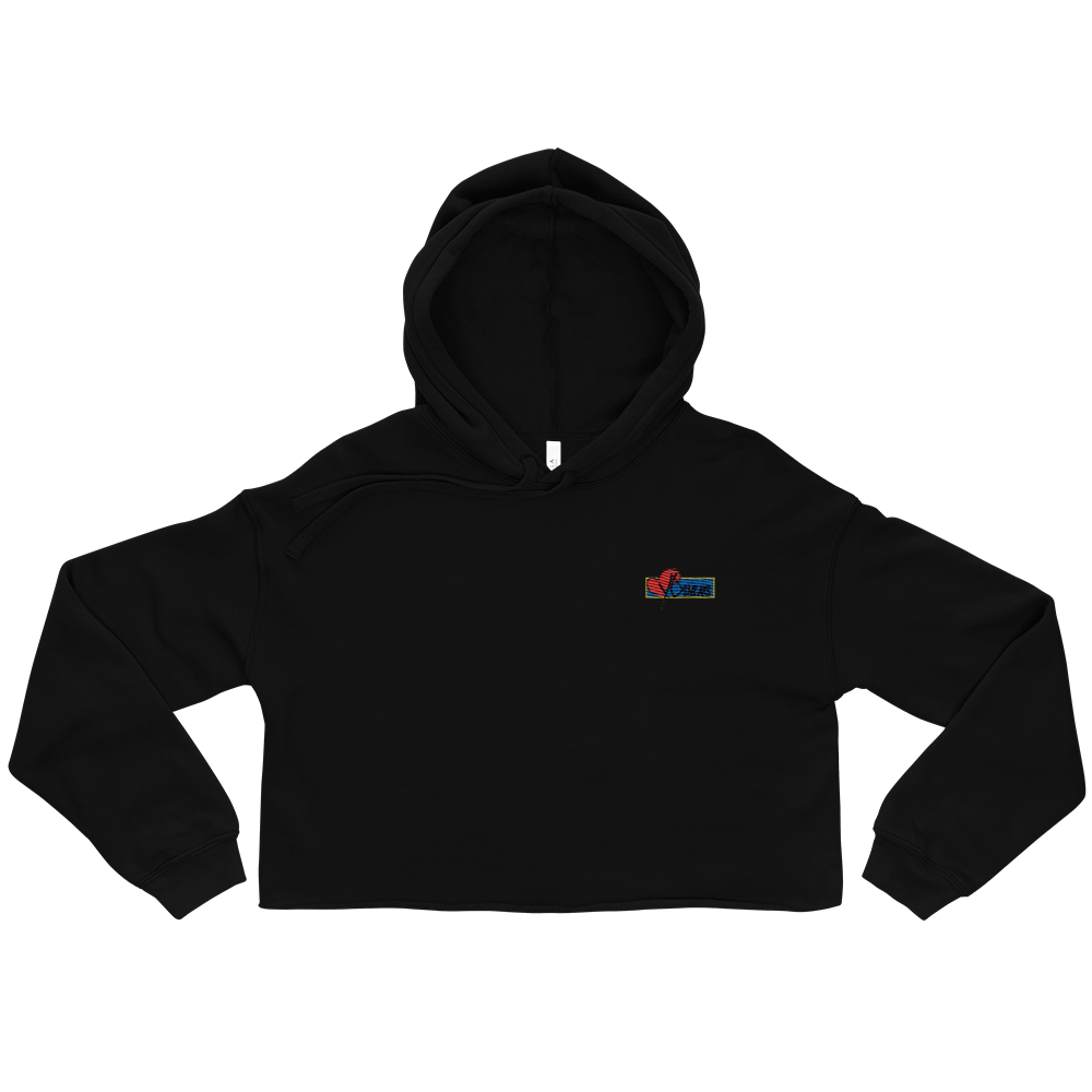 Image of Cropped Hoodie Embroidered logo