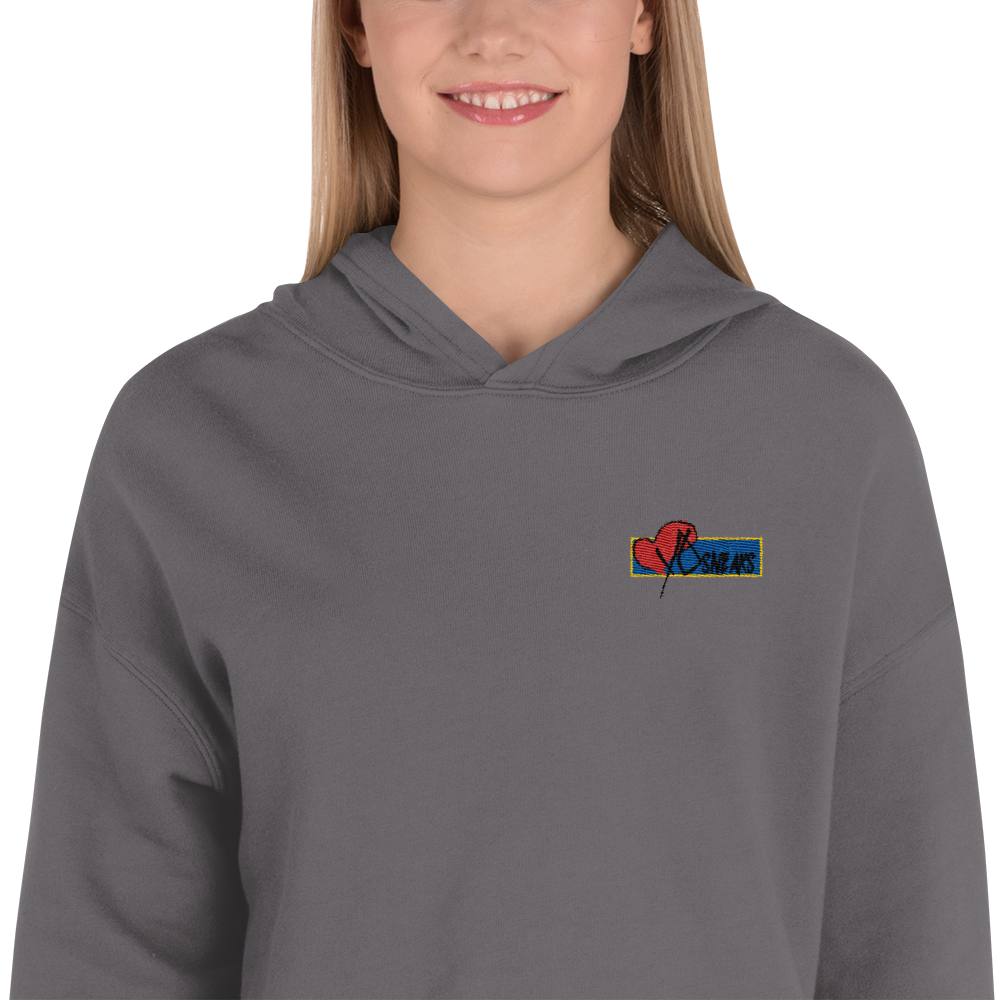 Cropped Hoodie Embroidered logo
