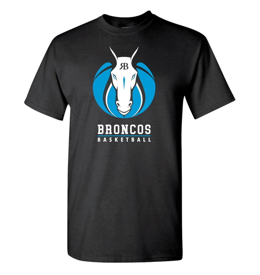 Image of Broncos Black Dri-fit Performance Crew