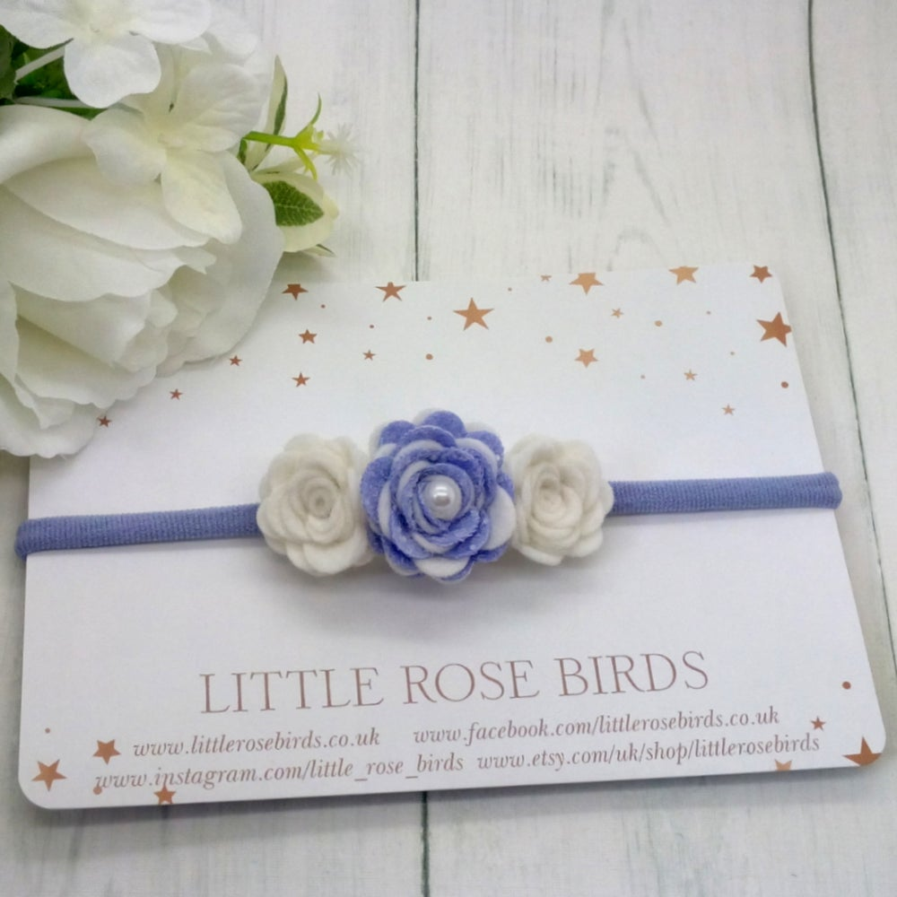 Image of Lilac & White 3 Rose Headband