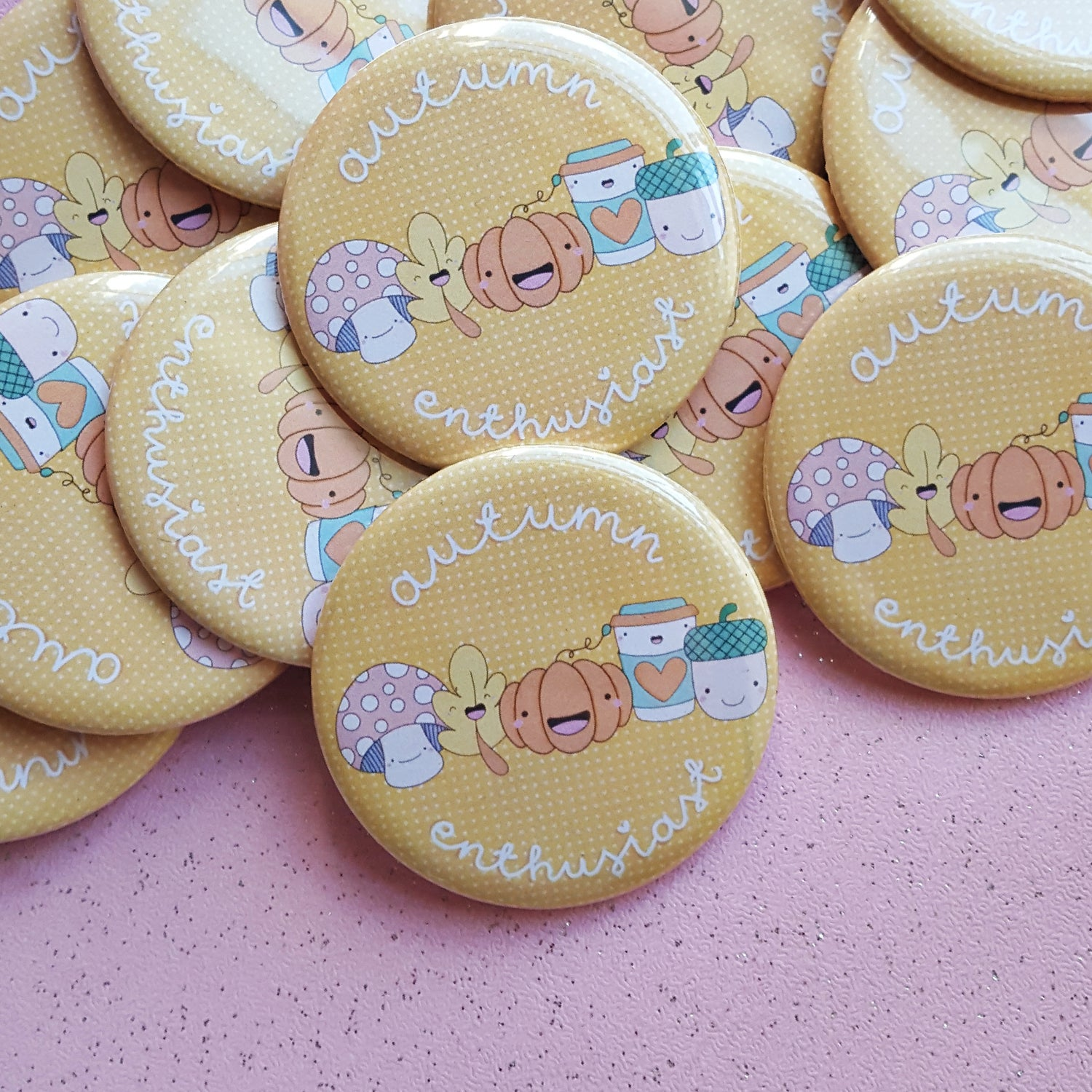 Image of Autumn Enthusiast - 50mm Button Badge