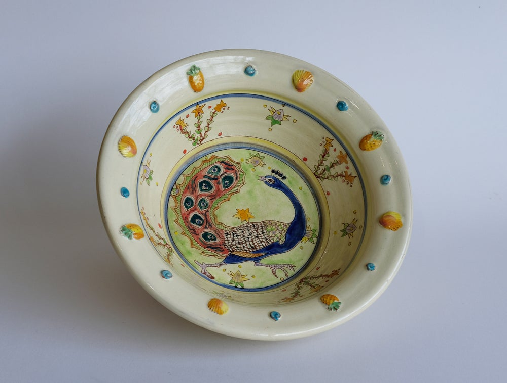Image of Maureen Minchin Peacock Bowl