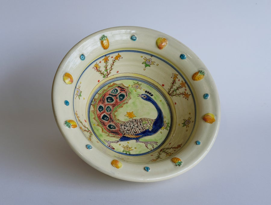 Image of Maureen Minchin Peacock Bowl