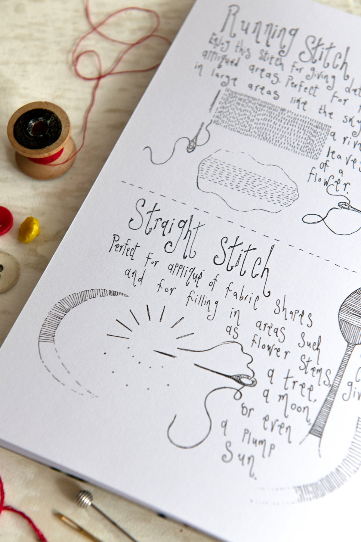 Image of 'My Favourite Stitches' hand tied booklet
