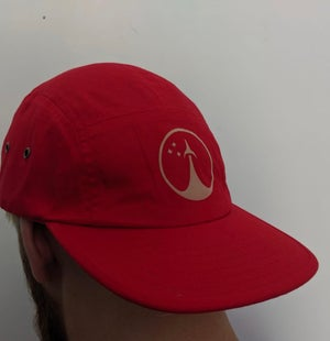 Image of Red Five Panel Cap