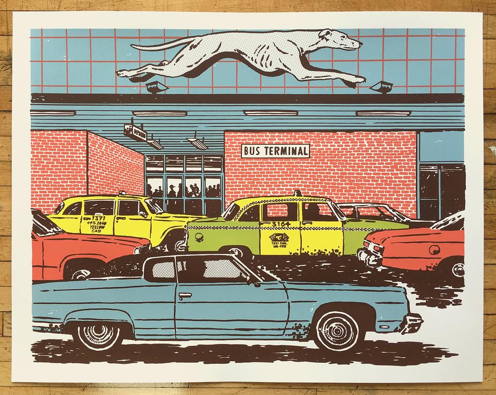 Image of Bus Station Art Print