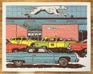 Image of Bus Station Art Print