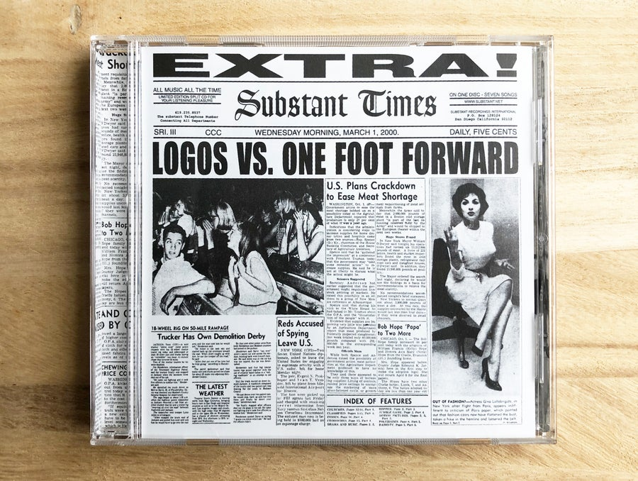 Image of Logos VS One Foot Forward - EP (2000)