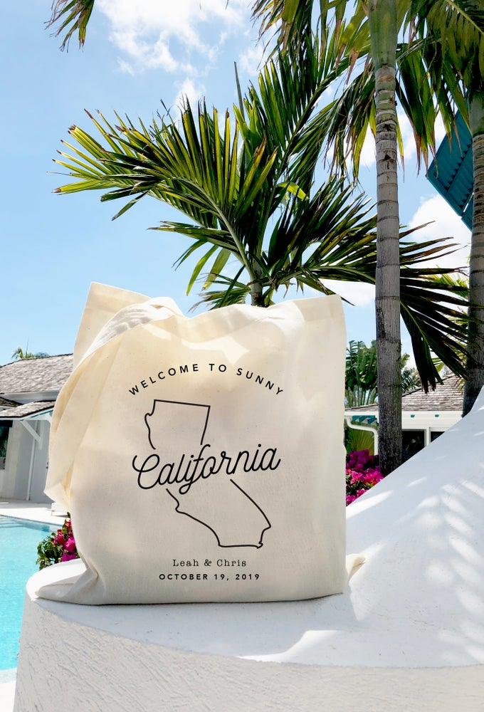 Image of Welcome to Sunny California Wedding Welcome Bag