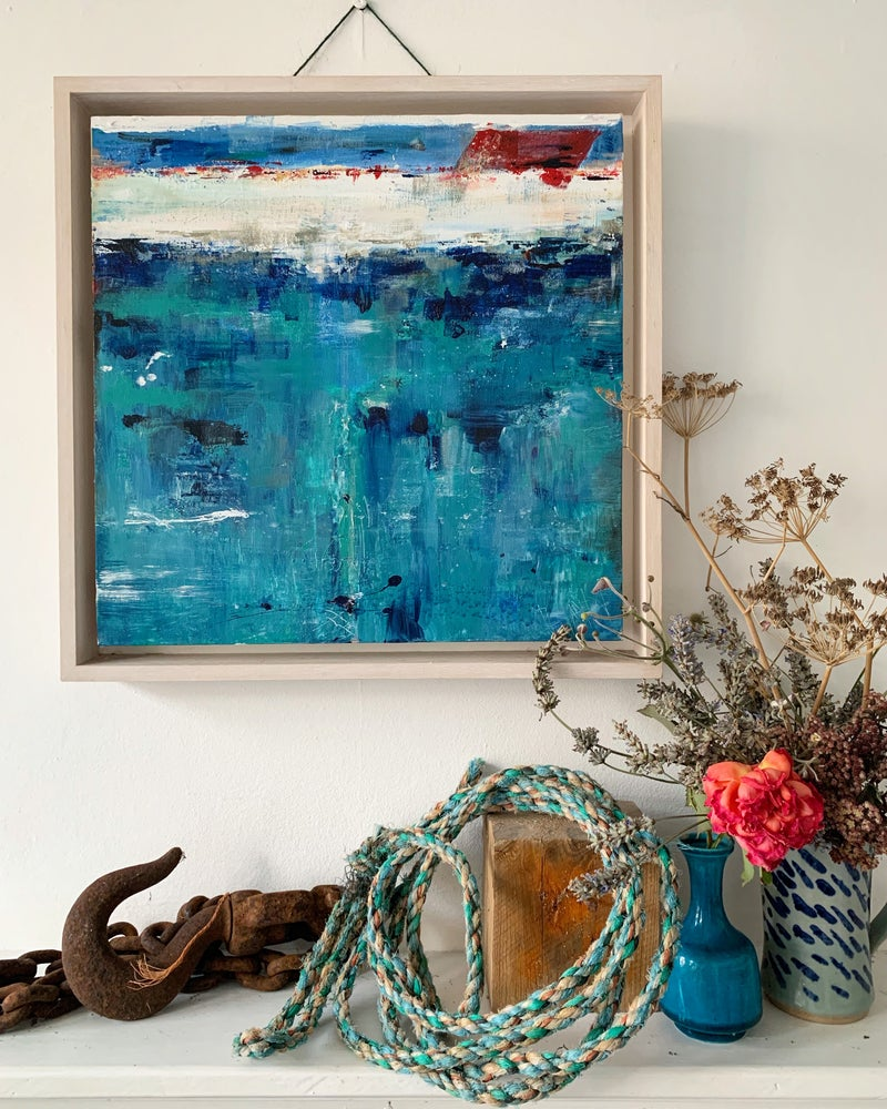 Image of NEWLYN BLUE ( Framed )