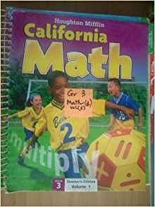 Image of 3rd Grade Teachers Edition Houghton Mifflin California Mathematics