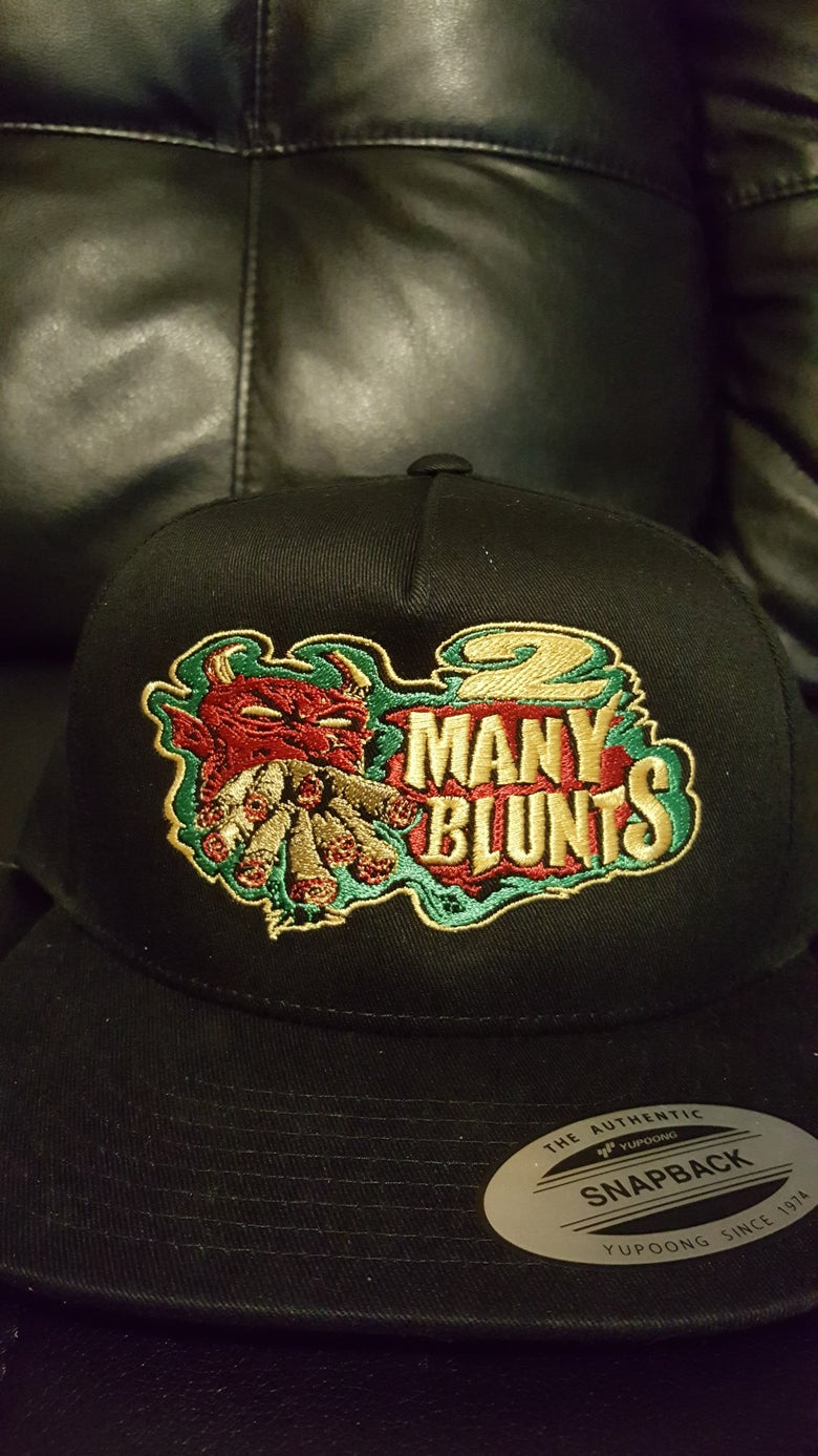 Image of 2 MANY BLUNTS  SNAPBACK HATS