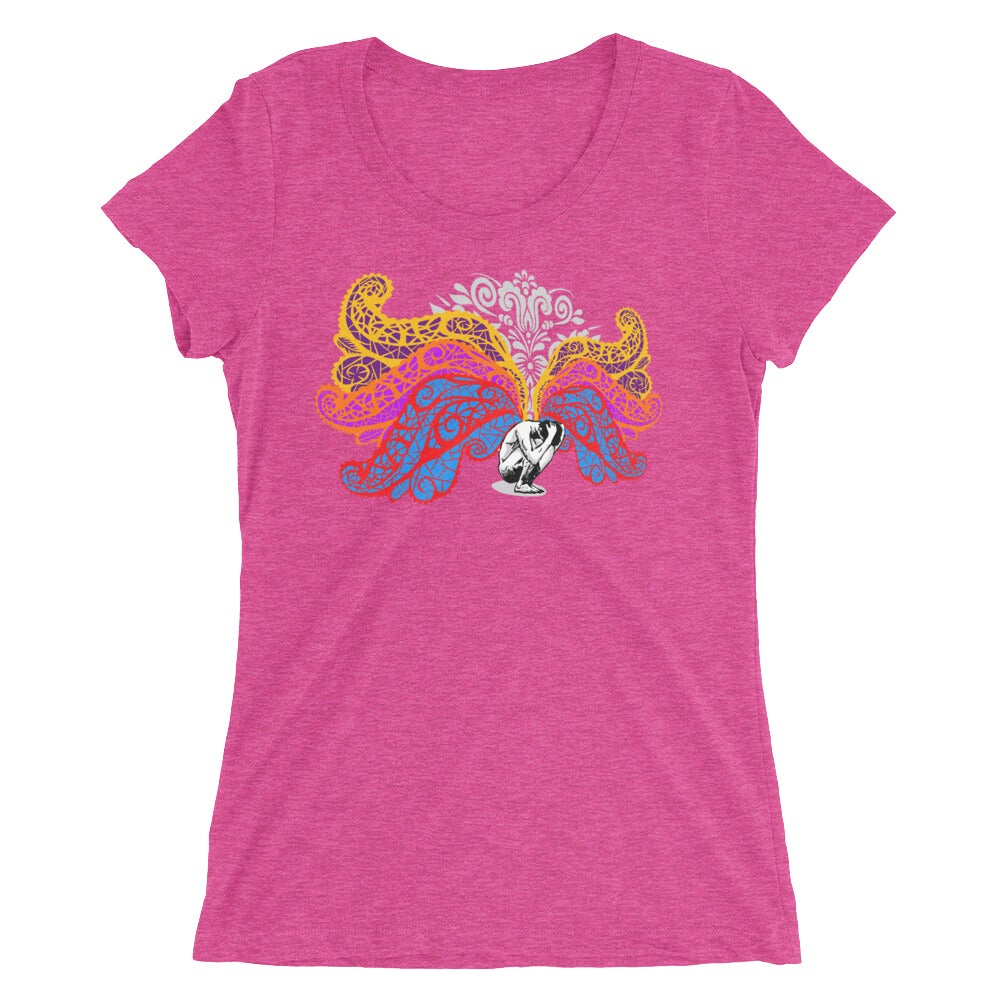 Image of Burden Of Light Bella + Canvas Women's Tri-Blend Tee - Berry