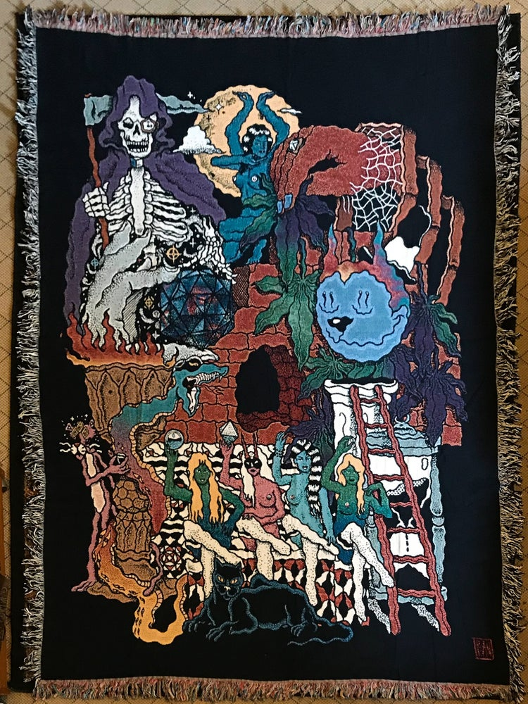 Image of Hidden Message woven tapestry PREORDER
