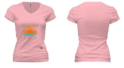 """Image of WOMENS """"BEACHIN"""" - PINK"""