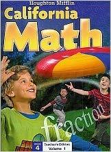 Image of Grade 4 Teachers Edition Houghton Mifflin California Mathematics