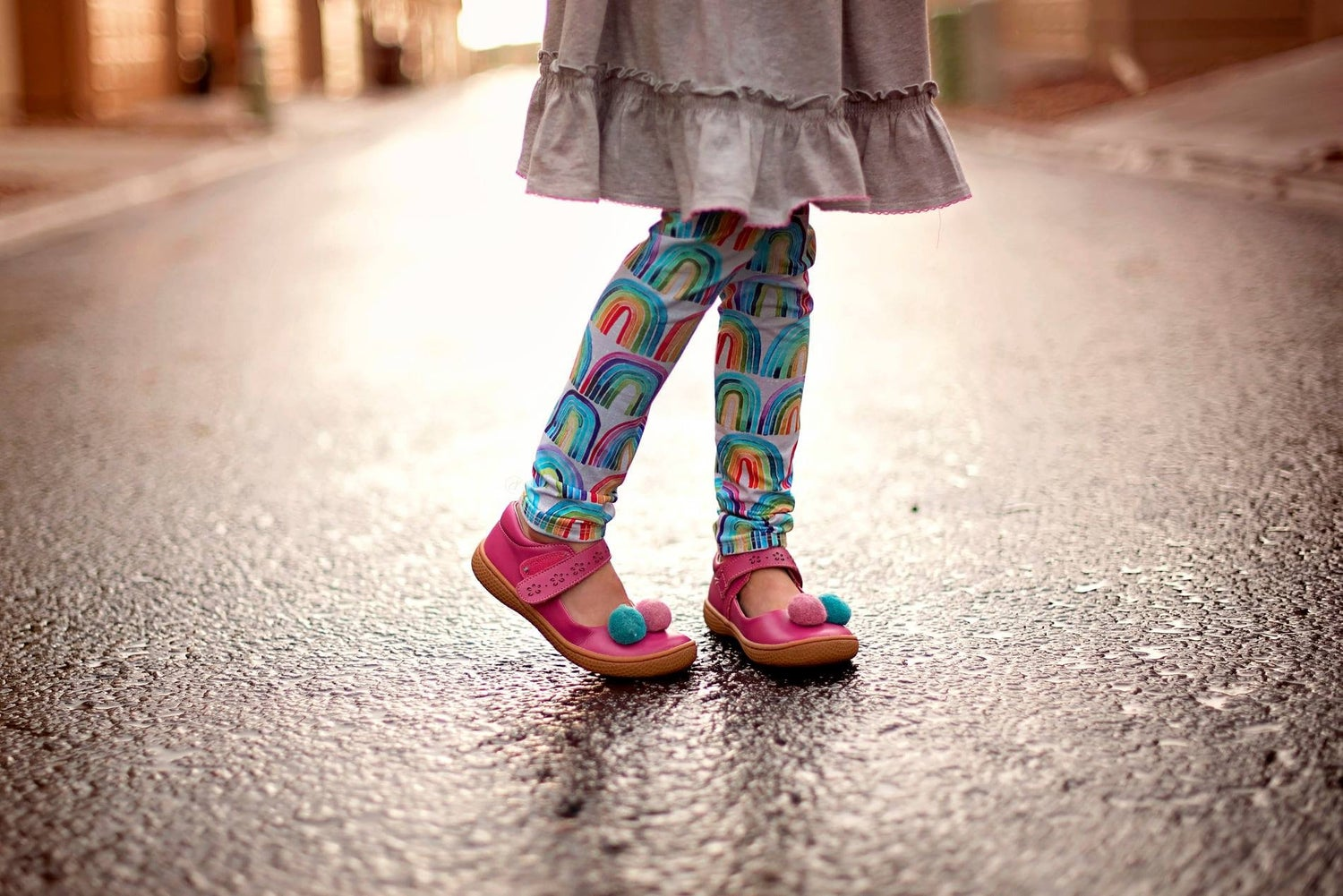 Image of Watercolor Rainbow Leggings
