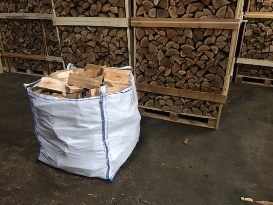 Image of Kiln-Dried Ash Tonne Bag - delivered in 15 extra large nets