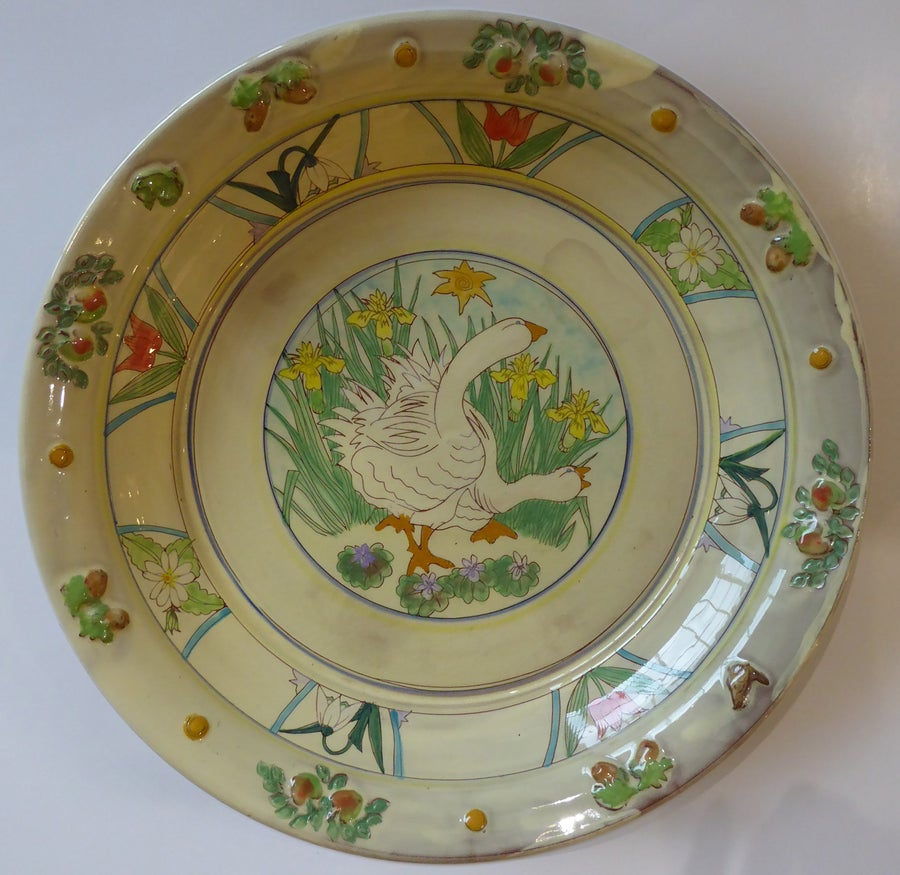 Image of Maureen Minchin Large Geese Plate