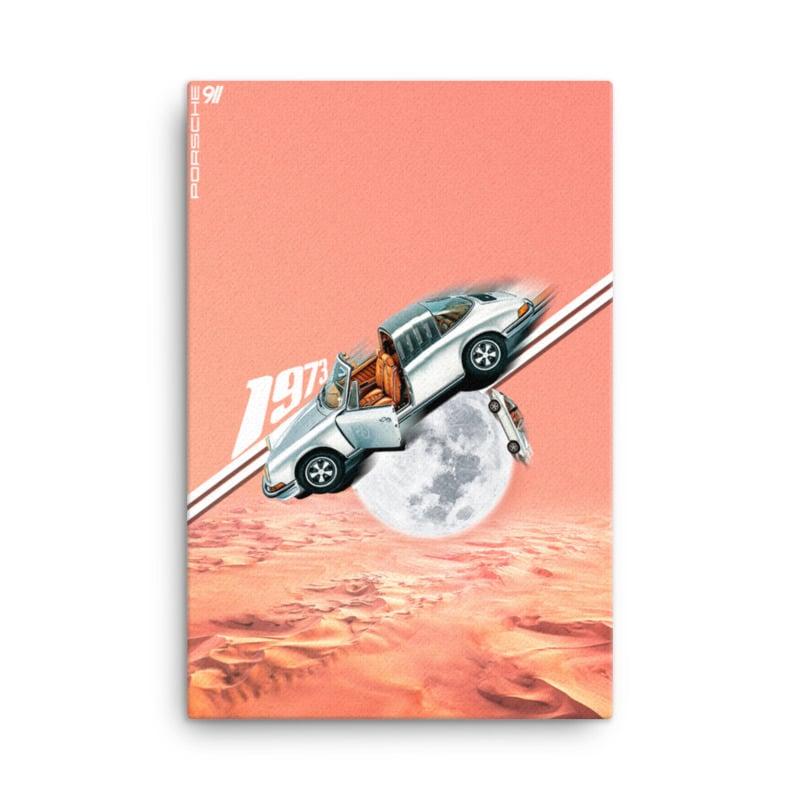 Image of 911 Targa Moon Land Canvas print