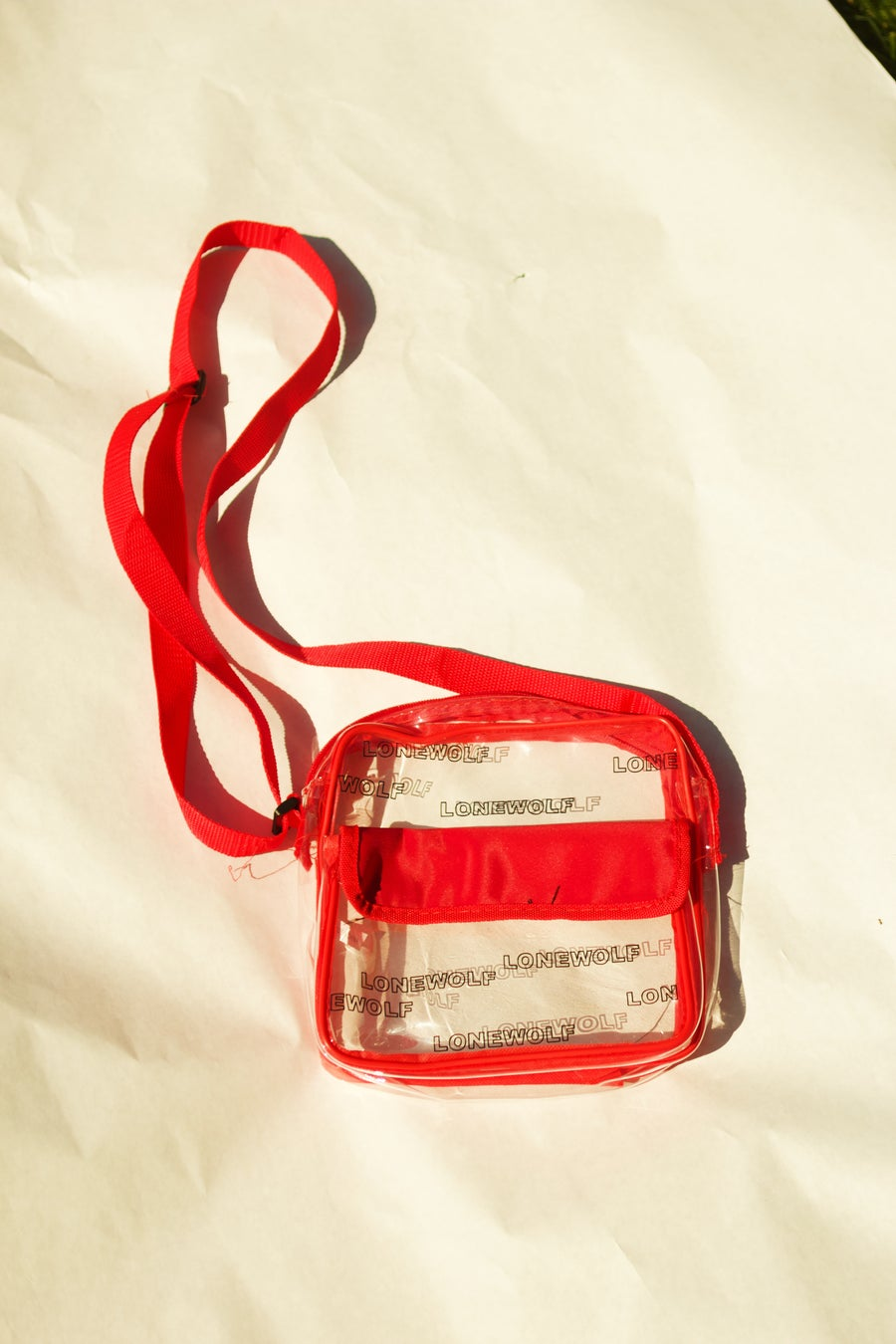 Image of Clear Bag in Red