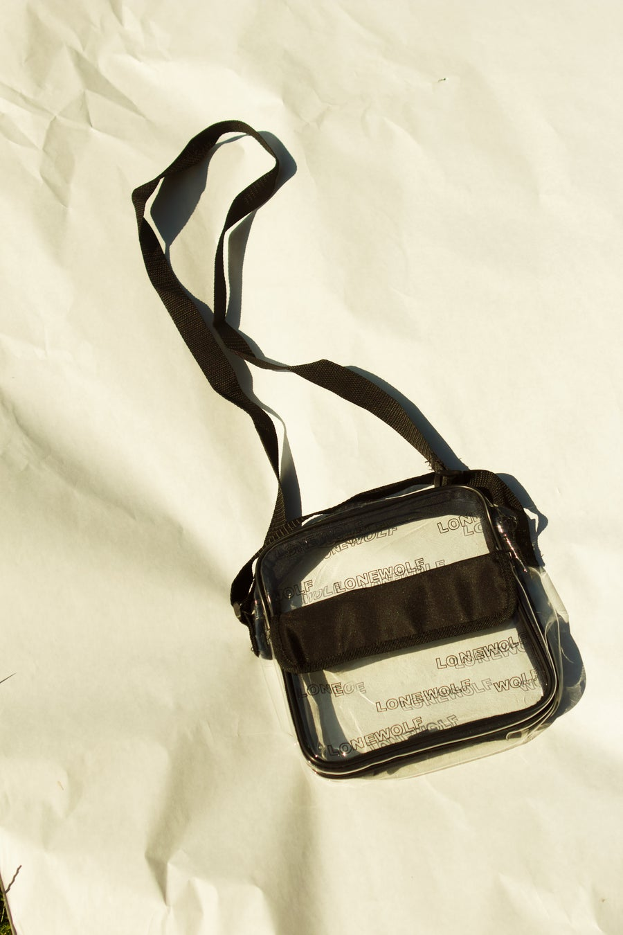 Image of Clear Bag in Black