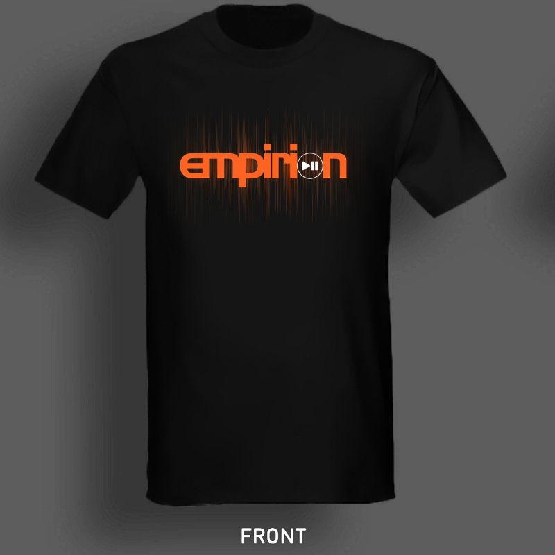 "Image of Empirion ""RESUME"" t-shirt black/orange logo"