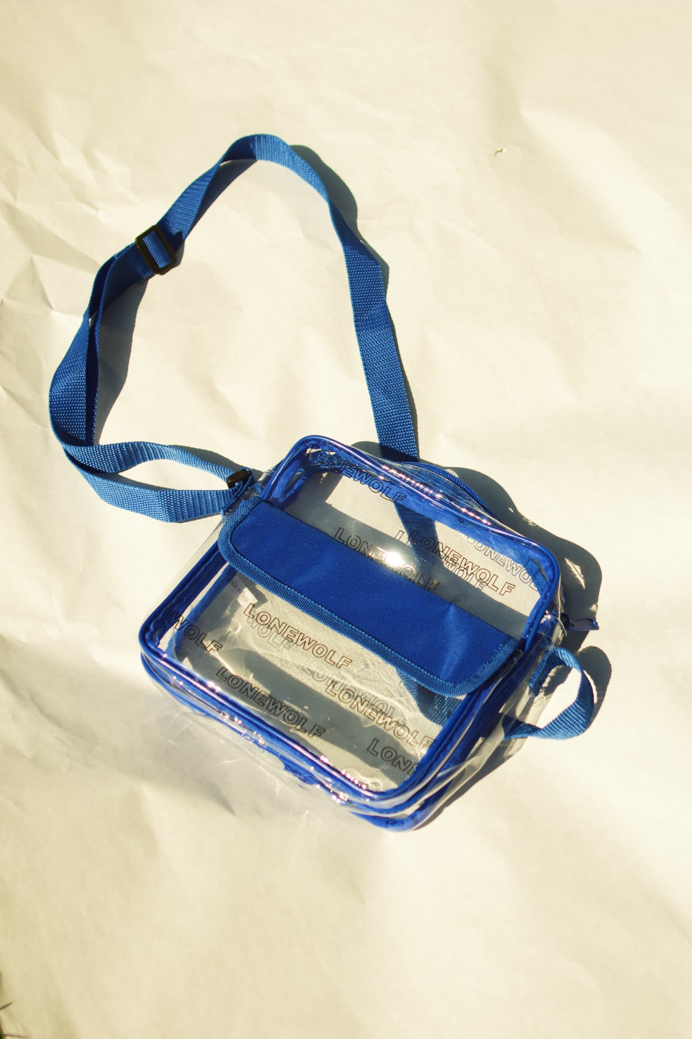 Image of Clear Bag in Blue
