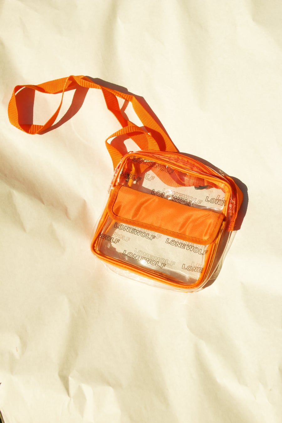Image of Clear Bag in Orange