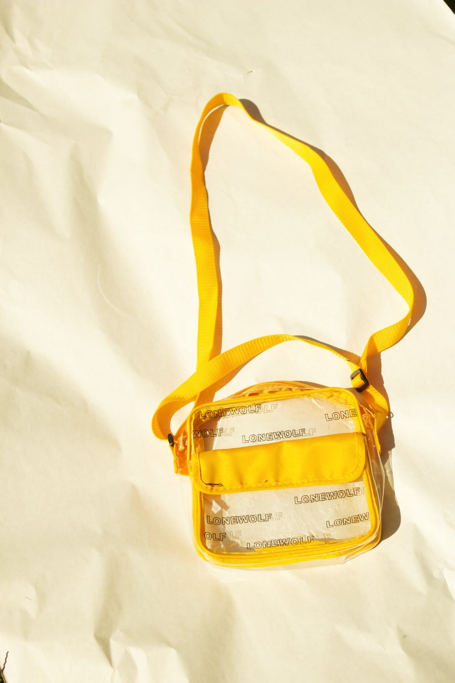 Image of Clear Bag in Yellow