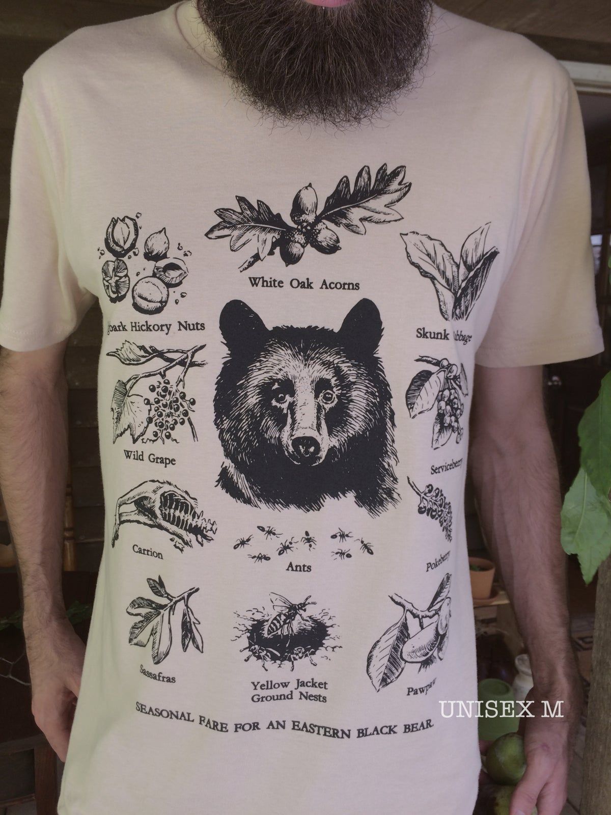 Image of FORAGING BLACK BEAR [limited edition organic shirt]