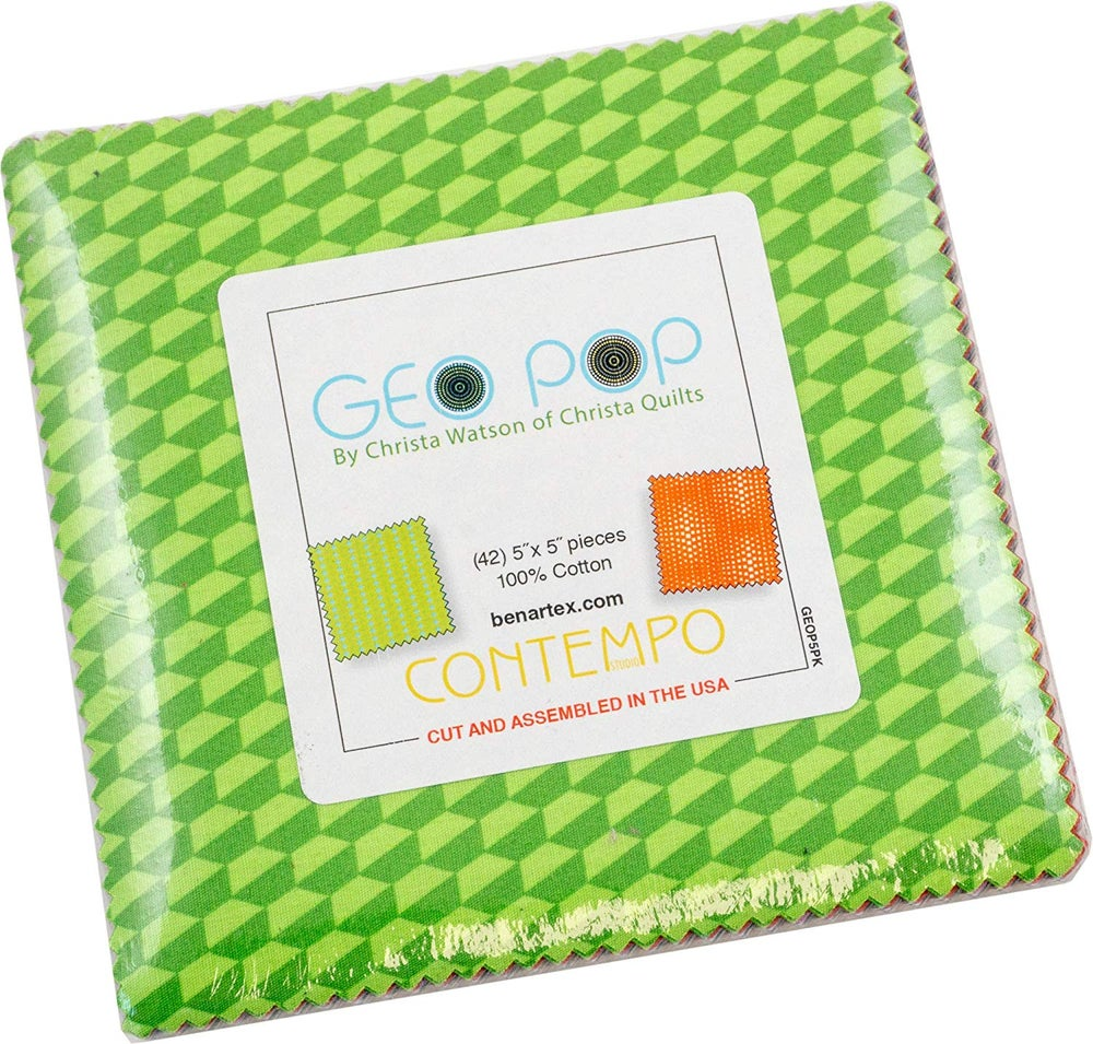 "Image of Geo Pop Charm Pack 42 - 5"" Squares"
