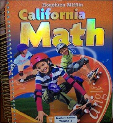 Image of Grade 5 Teachers Edition: Houghton Mifflin Mathmatics California