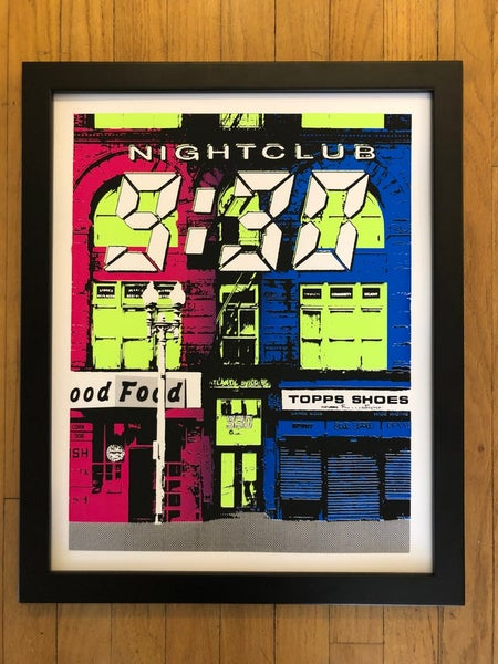 Image of Nightclub 9:30 Silk Screened Art Print - BLEMISHED