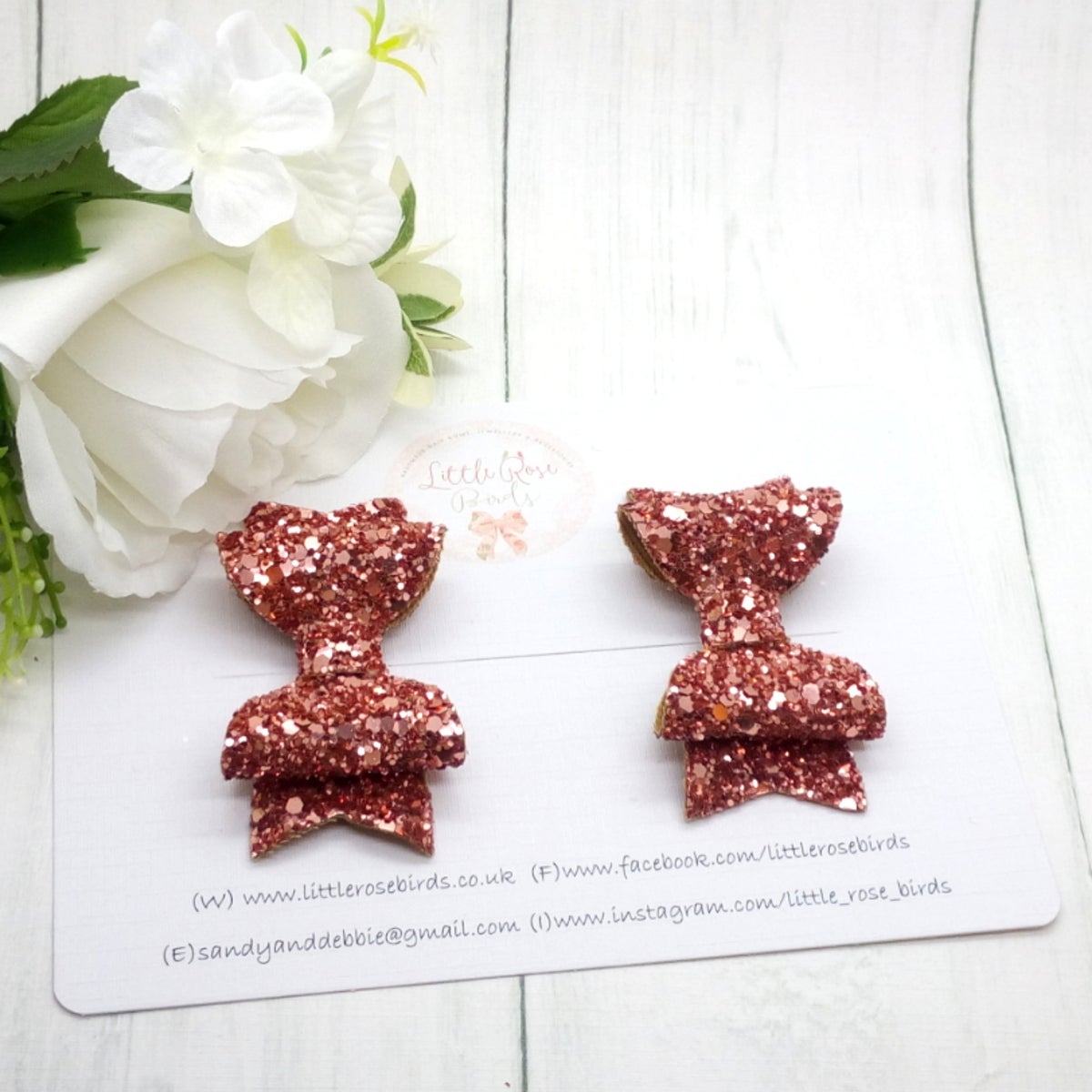 Image of Rose Gold Glitter Pigtail Set