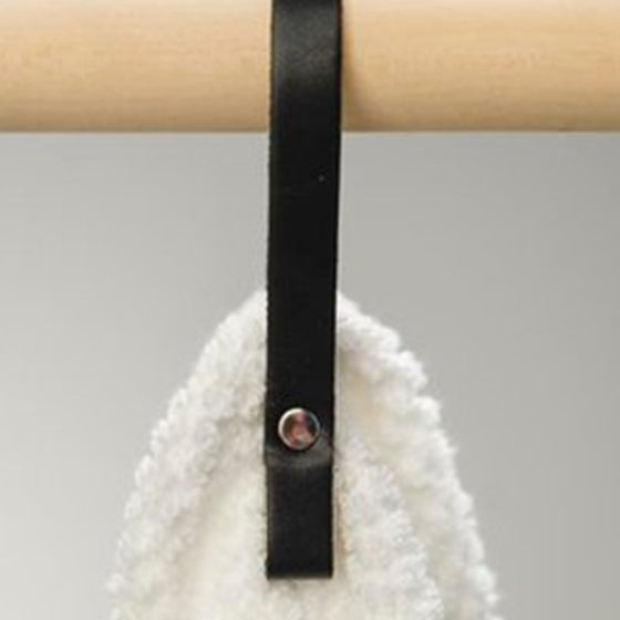 Image of LEATHER TOWEL HANGERS