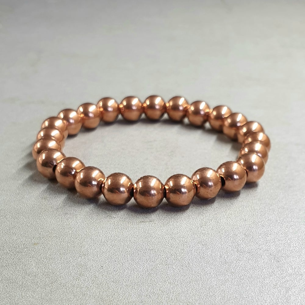 Image of Pure COPPER Bead Bracelets   6mm - 8mm