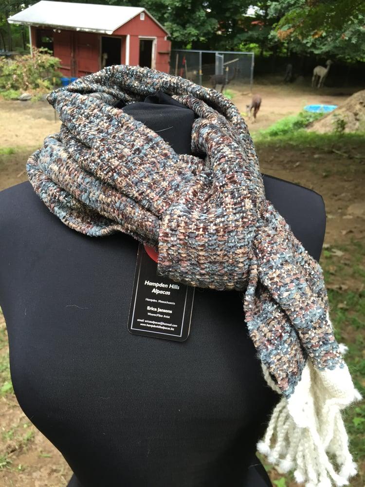 Image of Alpaca/Chenille Hand woven scarf (# 19249)
