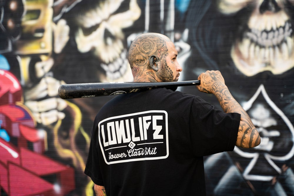 Image of Lowlife Lower Class Shit tee in black