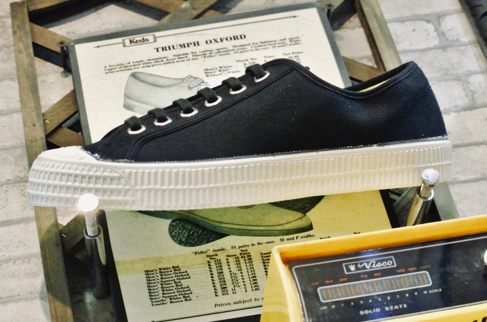 Image of Novesta master lo canvas black sneaker shoes made in Slovakia