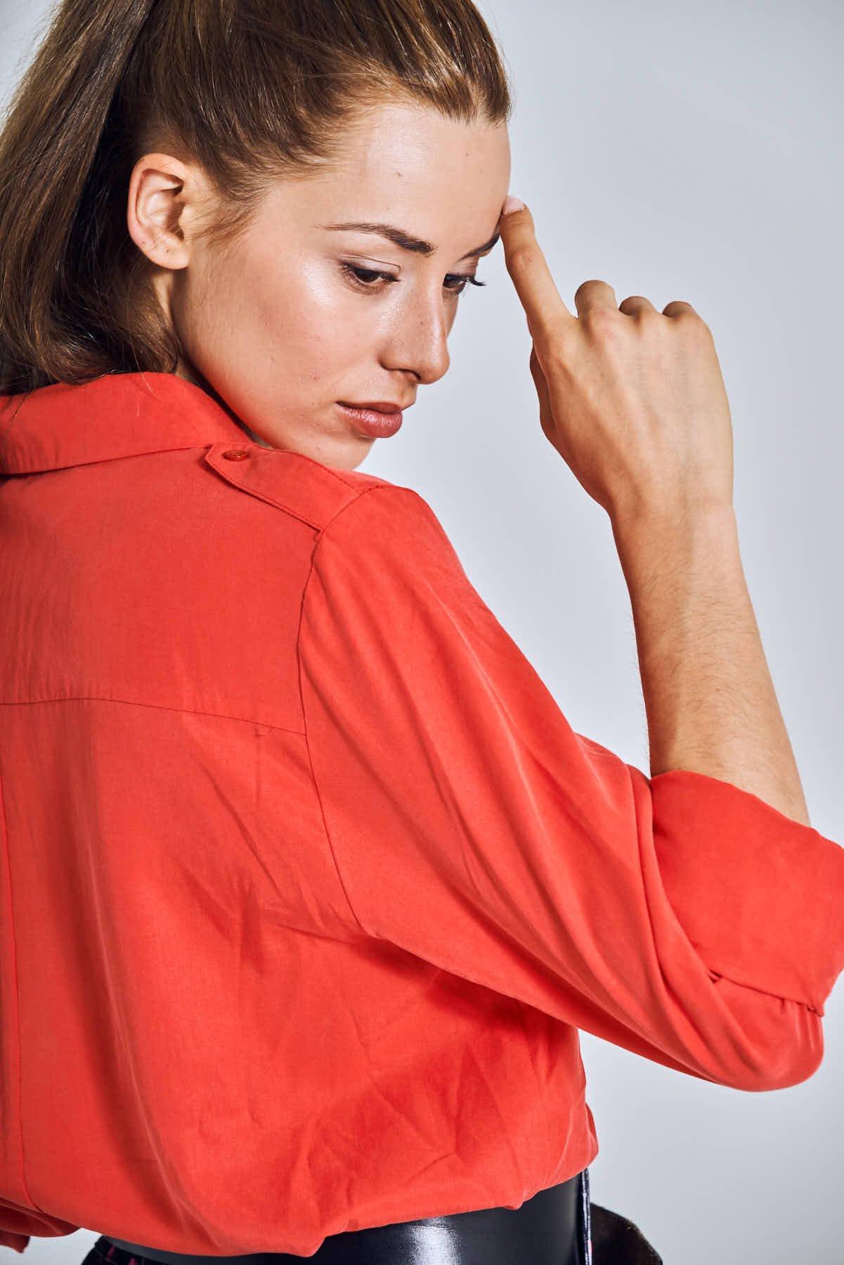 Image of Camisa Carlos Tencel Rojo
