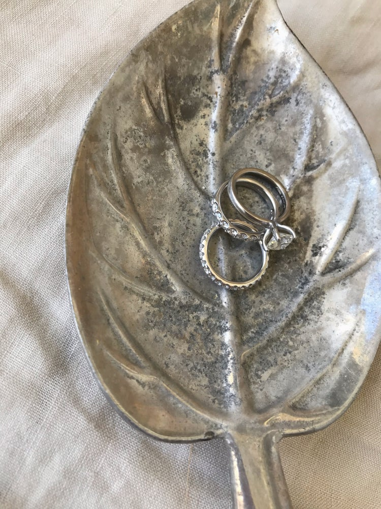 Image of Small Silver Leaf Ring Dish