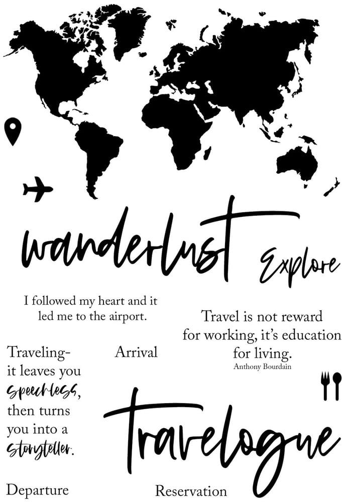 Image of Wanderlust Stamp Set