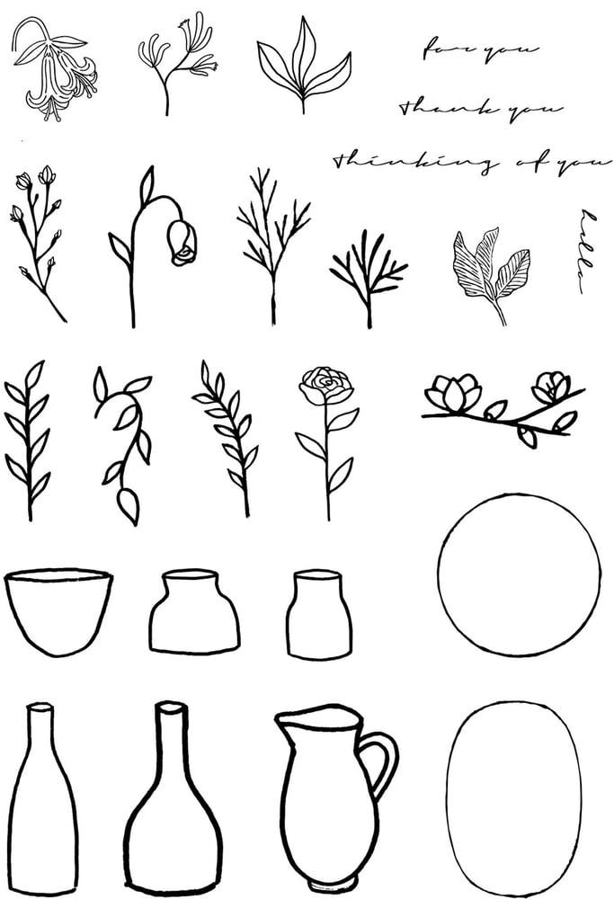 Image of Vase Builder Stamp Set